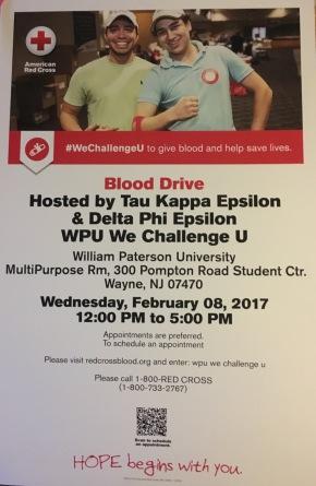 WPU We Challenge U! BloodDrive